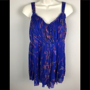 NWT Free People Bright Blue Rain Combo Dress